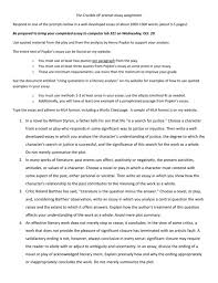 analysis essay outline toreto co literary about a character  the crucible ap prompt essay assignment respond to one of how write a literary about character