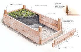 redwood raised bed plan garden plans all