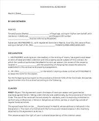 Free Printable Lease Agreement Template Lovely Luxury Simple Rental