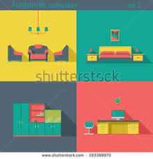 creative furniture icons set flat design. Creative Design Furniture Icons Set. Interior Long Shadow Style. Furniture  Vector Collection. Home Interior. | Illustration Pinterest Illustrations Creative Set Flat L