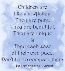 Children Are Like Snowflakes They Are Beautiful They Are Unique