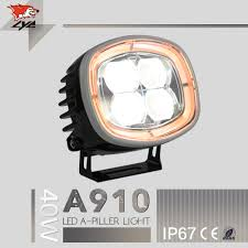 amber color drl lyc for jeep headlight led 4x4 led driving light 24v led truck lights spot flood lamp 2500lm 40w ip67 in car light assembly from automobiles