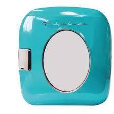 12 can mini retro beverage cooler in turquoise