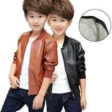 details about kids leather jackets motorcycle jacket cool baby boys biker coats outwear coat