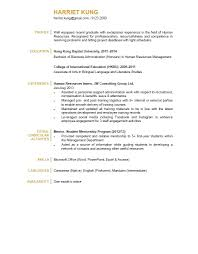 Sample Hr Resumes Experience Resume Hr Resume Examples
