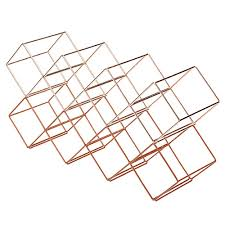 wire wine rack. BarCraft Copper Finish Wire Stackable Wine Rack