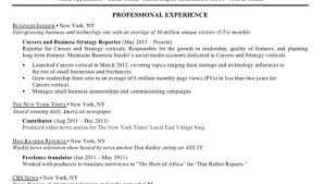 Of An Excellent Resume Sample Best Resumes Business Insider 7
