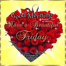 Good Morning Friday Quotes Delectable Good Morning Have A Beautiful Friday Quote With Roses Pictures