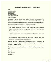 Elegant Sample Cover Letters For Administrative Assistants    With  Additional Samples Of Cover Letters For A