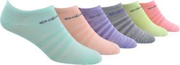 Adidas Girls Superlite No Show Socks 6 Pack Size Medium