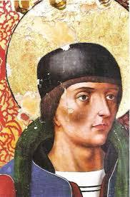 Detalle de la cabeza de San Cosme antes de la reintegración cromática. - 5SanCosme