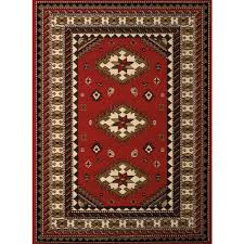 united weavers dallas tres red 5 ft x 7 ft indoor area rug