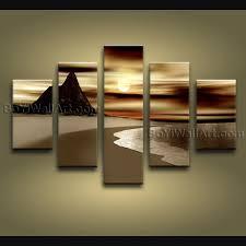 contemporary wall art seascape painting sunrise inner framed