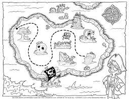 Pirate Treasure Map Coloring Pages Printables Pirate Treasure