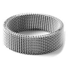 Zilveren Flexibele Stalen Ring Op Voorraad Fort Tempus