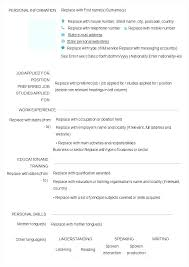 Resume Form Magnificent Resume Forms To Fill Out Filling Out A Resume Blank Fill In Resume