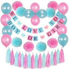 Boy Or Girl Baby Announcement Buy Gender Reveal Party Supplies Kit Boy Or Girl Baby