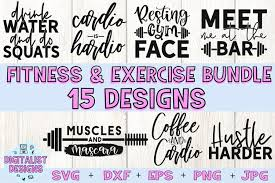 Almost files can be used for commercial. Fitness Bundle Svg Gym Svg Exercise Svg 441527 Cut Files Design Bundles