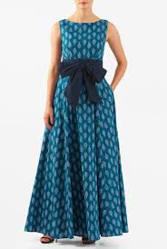 Light Cotton Maxi Dress Slip On Our Light Cotton Leaf Print Maxi Dress With A Wide