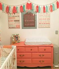 Coral Painted Rooms Girls Bedroom Coral And Teal Kids Room Decorating Ideas