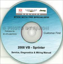 2005 dodge sprinter van wiring diagram manual original 2008 dodge sprinter van cd rom repair shop manual 269 00