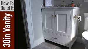 Bathroom vanities 30 inch 19 Inch How To Build 30 Inch Bathroom Vanity Youtube How To Build 30 Inch Bathroom Vanity Youtube