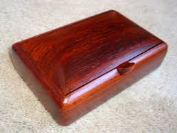 wide cocobolo wood box with convex lid 4 3 4 x 7 1 4 x 2