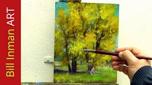 learn to paint cottonwood trees oil painting hammock stand fast motion by bill inman you
