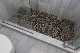 gray tile bathroom floor. Hotel Bathroom Custom Shower Gray Flannel Honed Marble Vertical Running Bond Island Stone Large Random Floor Tile N