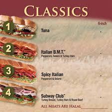 subway menu 2013. Plain Menu Subway Malaysia Menu Inside 2013