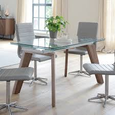 panama glass extending 6 8 seater dining table