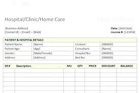 Sample Medical Bill Format In Word Hospital Invoice Template Medical Receipt Format Word