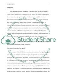 hate speech essay example topics and well written essays  hate speech essay example