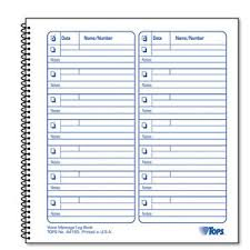 Phone Message Log Book Details About Tops Telephone Voice Mail Log Book 8 1 2 X 8 1 4 1 400 Message Book Top44165