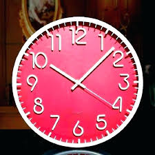 oversized red wall clock extra large clocks contemporary vintage led modern abstract bright cl uk