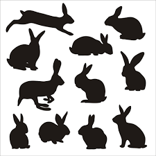 Vectors Silhouettes Rabbit Cute Silhouettes Vectors Welovesolo