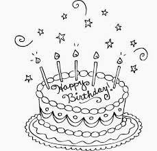 Simple Birthday Cake Drawing At Paintingvalleycom Explore