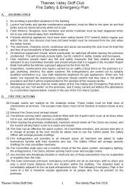 Fire Safety Plan - Thames Valley Skiff Club