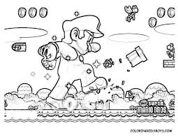 Mario Bros Wii Coloring Pages