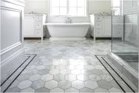 cool honeycomb shaped flooring tiles for white bathroom feat glass shower enclosure and paired with luxury jacuzzi bathtub and endearing twin vanity