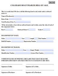 Boat Bill Of Sale Free Colorado BoatTrailer Bill Of Sale Form PDF Word Doc 10