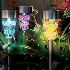 Aliexpresscom  Buy 5pcs Mosaic Stainless Steel Solar Energy Lawn Solar Mosaic Garden Lights