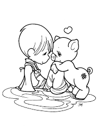 Small Picture Precious Moments Coloring Pages Coloring Page