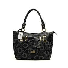 Coach Bowknot Signature Medium Black Totes DNJ