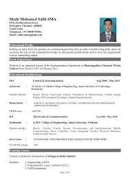 Computer Engineering Student Resume Format Freshers Gentileforda Com