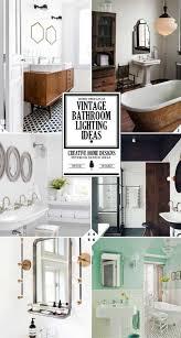 bath lighting ideas. Vintageom Light Fixtures Lowes Farmhouse Master Vintage Bathroom Pertaining To Lighting Designs 16 Bath Ideas