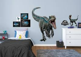 velociraptor blue jurassic world fallen kingdom giant officially licensed removable wall