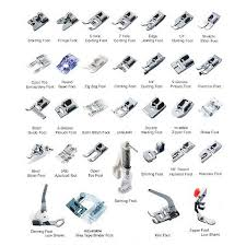 Chart Of Sewing Machine Feet Google Search Sewing