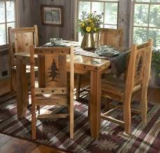 rustic dining table and chairs. Image Is Loading Rustic-Kitchen-Table-Set-Country-Western-Log-Cabin- Rustic Dining Table And Chairs G