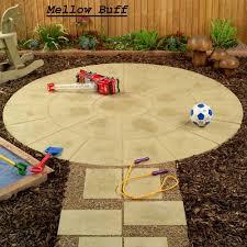 patio slab sets: bistro sets living stone living stone oxford circle patio kit